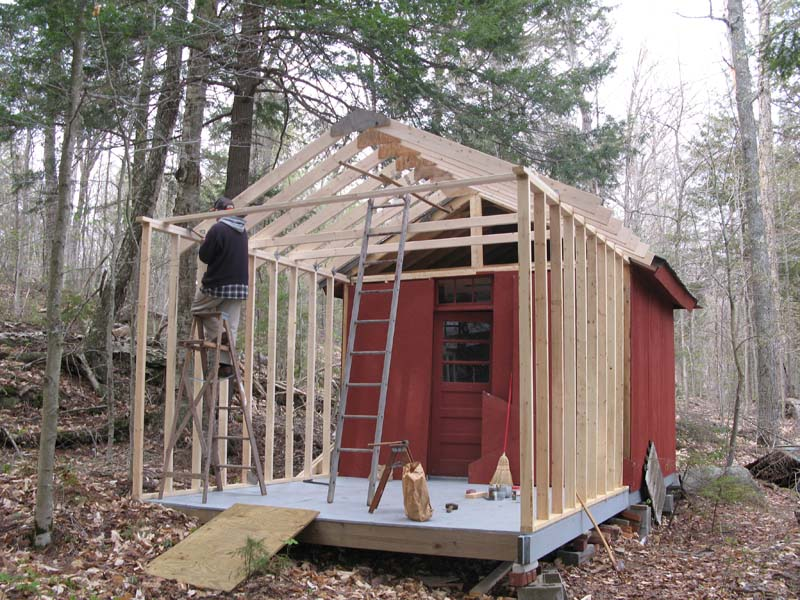 Move to raquette lake 2008 Shed addition